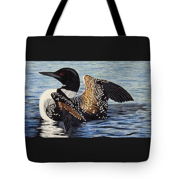 Loon In Flight Tote Bag