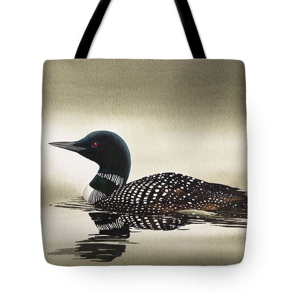 Loon In Still Waters Tote Bag by James Williamson