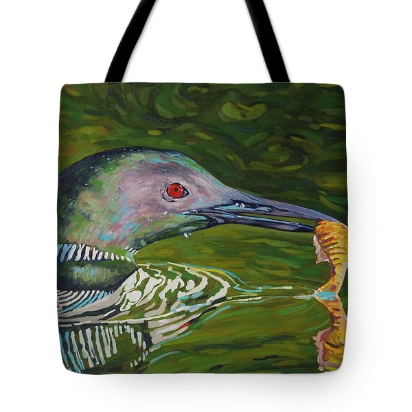 Loon Lunch Tote Bag by Phil Chadwick