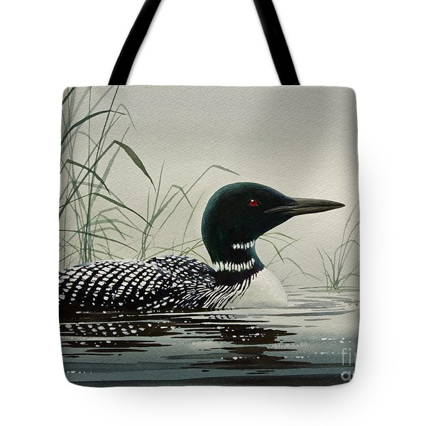 Loon Near The Shore Tote Bag