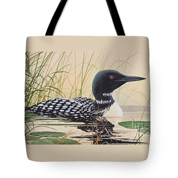 Loon's Tranquil Shore Tote Bag