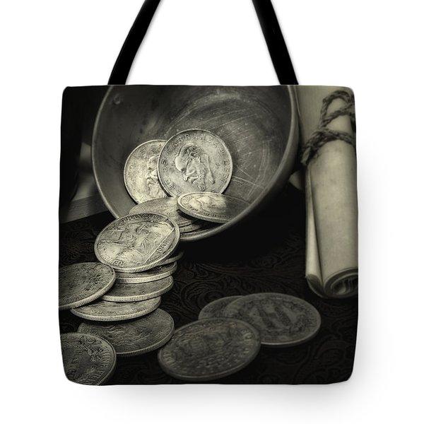 Loose Change Still Life Tote Bag