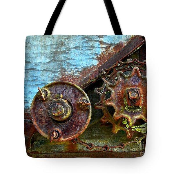 Loose Gears Tote Bag by Newel Hunter