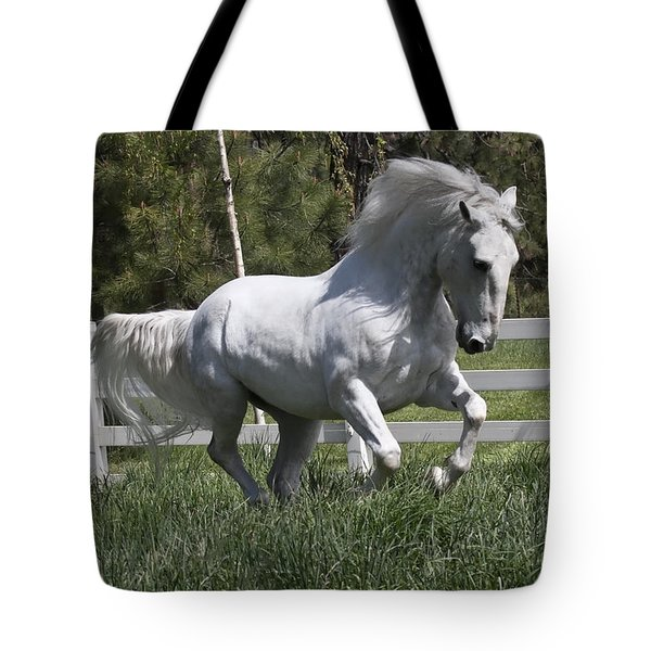 Tote Bag featuring the photograph Loose In The Paddock 5594 by Wes and Dotty Weber