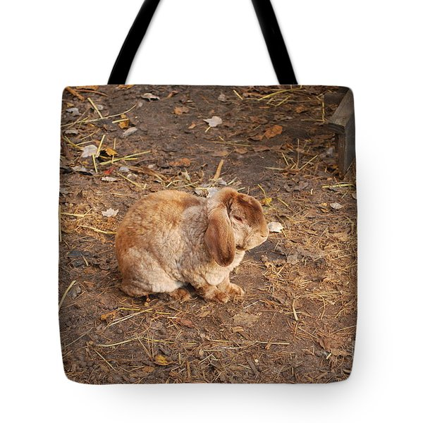 Tote Bag featuring the photograph Lop Eared Bunny by Bob Sample