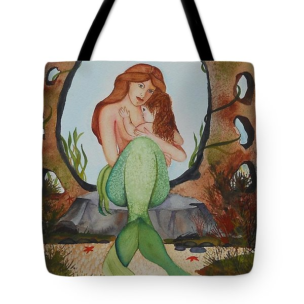 Tote Bag featuring the painting Loralie And Her Daughter by Virginia Coyle