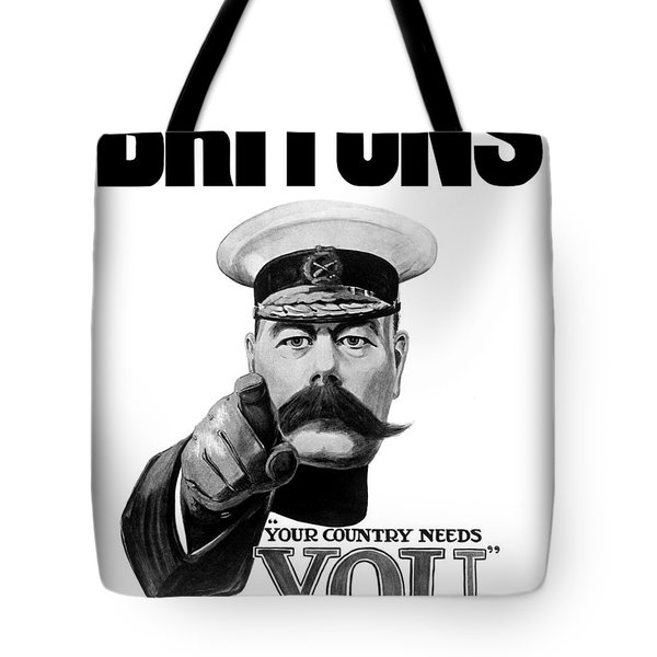 Lord Kitchener - Britons Your Country Needs You Tote Bag