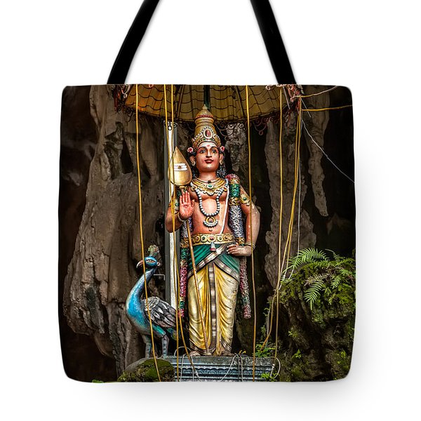 Lord Murugan Statue Tote Bag by Adrian Evans