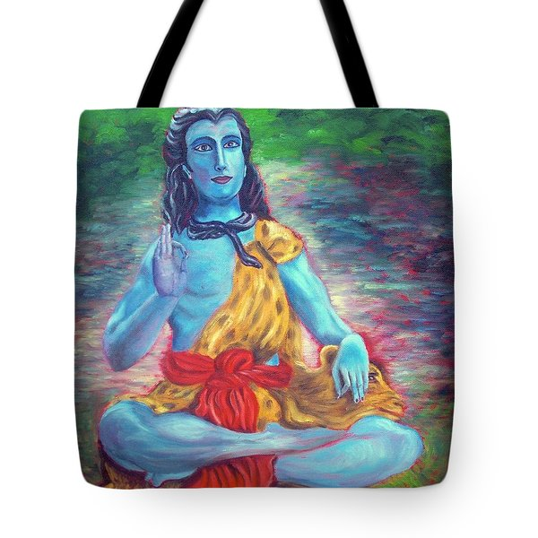 Lord Shiva Tote Bag by Mila Kronik