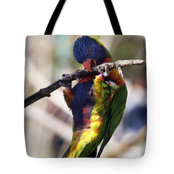 Lorikeet Bird Tote Bag by Marilyn Hunt