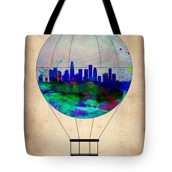 Los Angeles Air Balloon Tote Bag