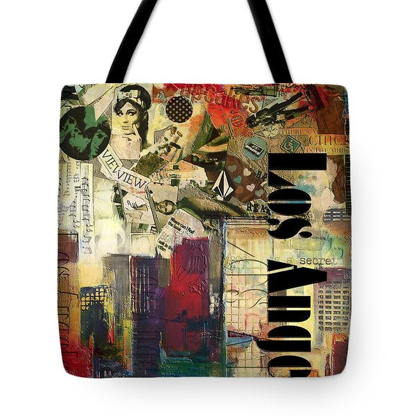 Los Angeles Collage  Tote Bag by Corporate Art Task Force