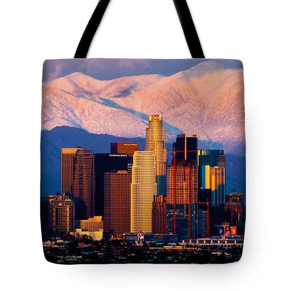 Los Angeles In Winter Tote Bag