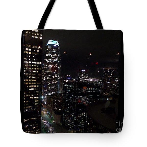 Los Angeles Nightscape Tote Bag