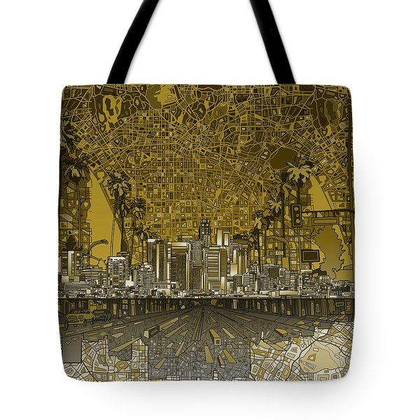 Los Angeles Skyline Abstract 4 Tote Bag