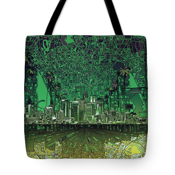Los Angeles Skyline Abstract 6 Tote Bag