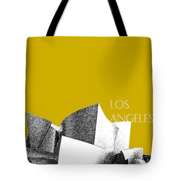 Los Angeles Skyline Disney Theater - Gold Tote Bag