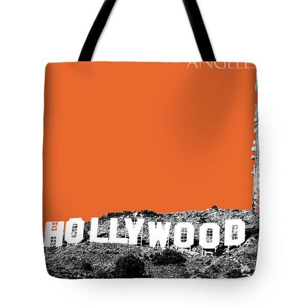Los Angeles Skyline Hollywood - Coral Tote Bag