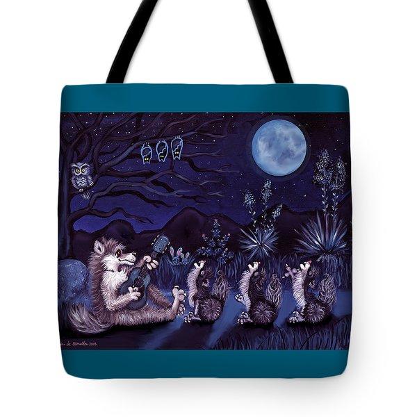 Los Cantantes Or The Singers Tote Bag by Victoria De Almeida