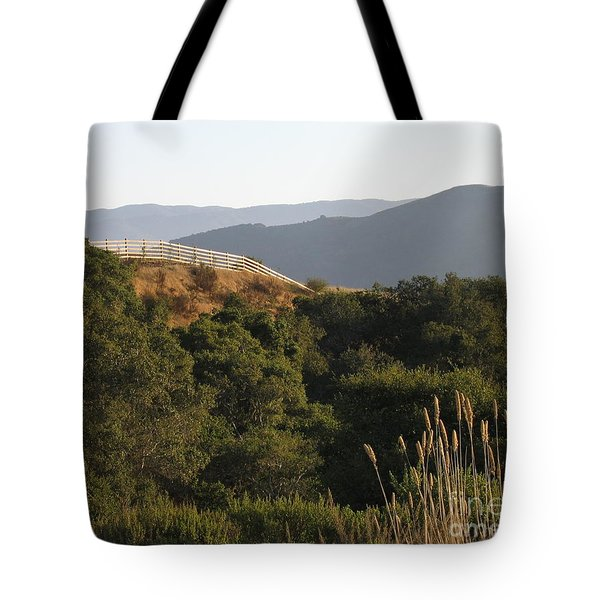 Tote Bag featuring the photograph Los Laureles Ridgeline by James B Toy