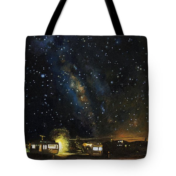 Los Rancheros Rv Park Tote Bag