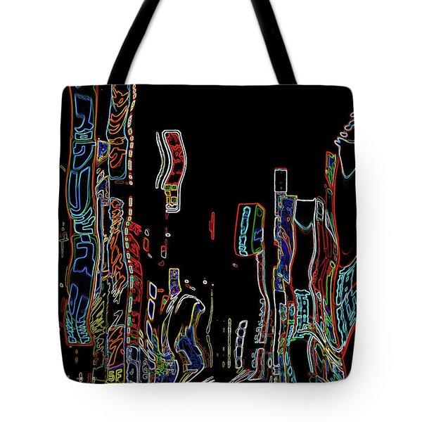 Losing Equilibrium - Abstract Art Tote Bag by Carol Groenen