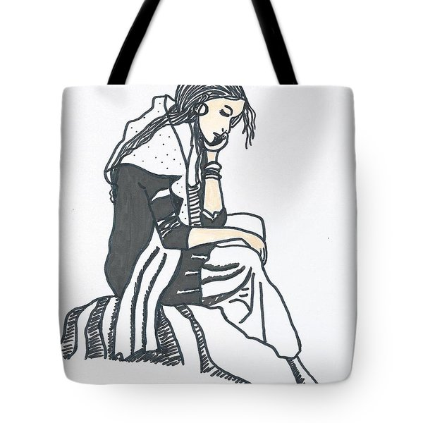 Tote Bag featuring the painting Losing The Partner  by Magdalena Frohnsdorff