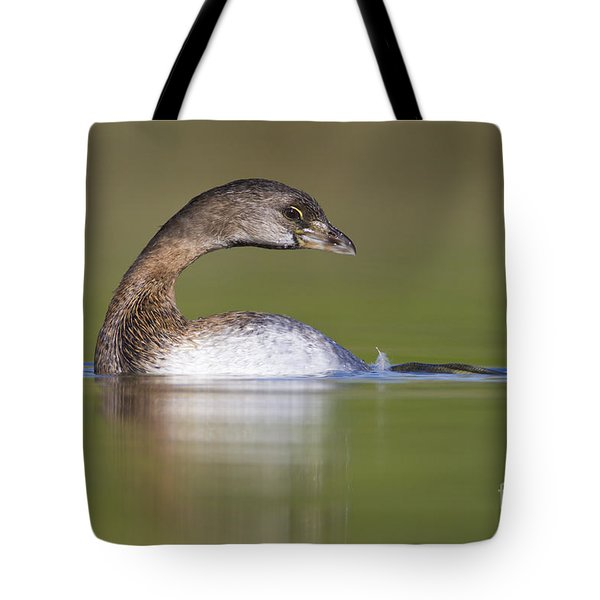 Tote Bag featuring the photograph Loss-neck Grebe by Bryan Keil