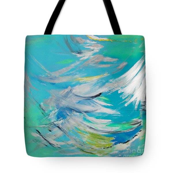 Tote Bag featuring the painting Lost At Sea by PainterArtist FIN