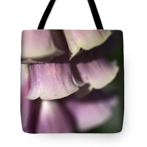 Tote Bag featuring the photograph Lost In A Foxglove by Joy Watson