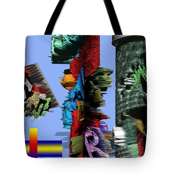 Lost In Comic Book Time Tote Bag by Robert Margetts