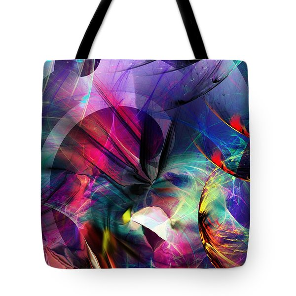 Tote Bag featuring the digital art Lost In Hyperspace by David Lane