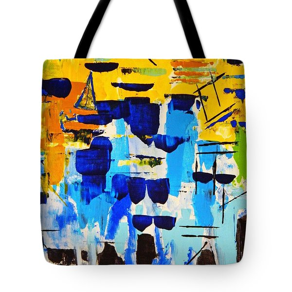 Lost In The Crowd Tote Bag