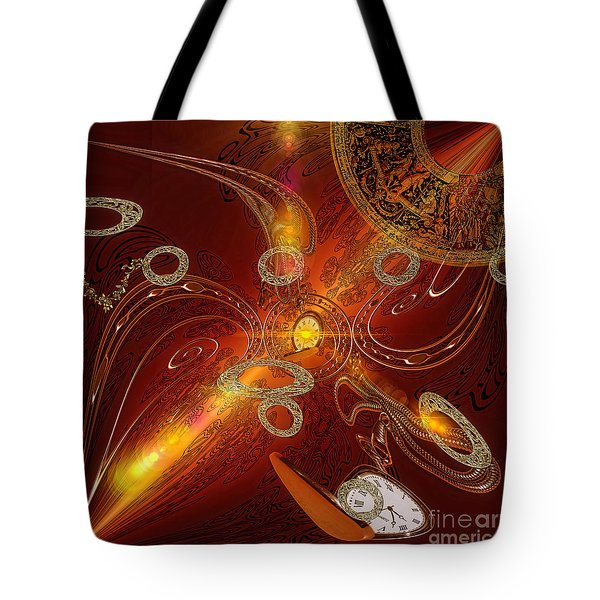 Lost In Time Tote Bag by Mo T