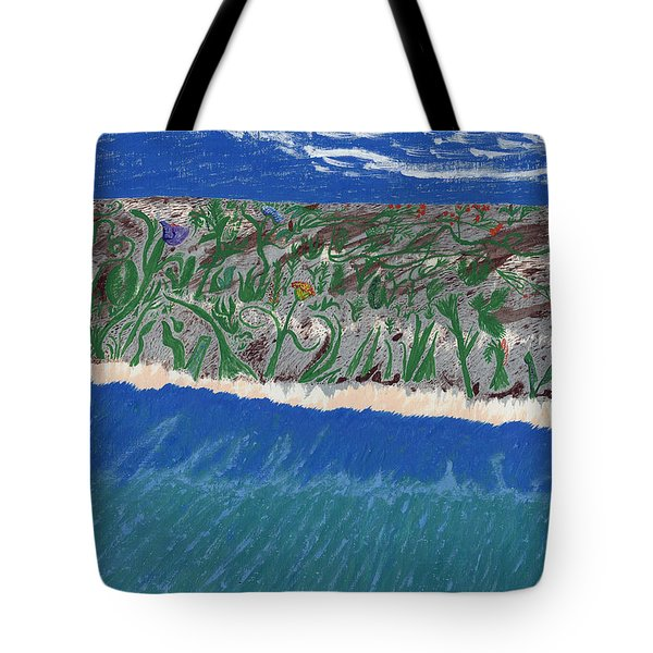 Tote Bag featuring the painting Lost Island by Kim Pate