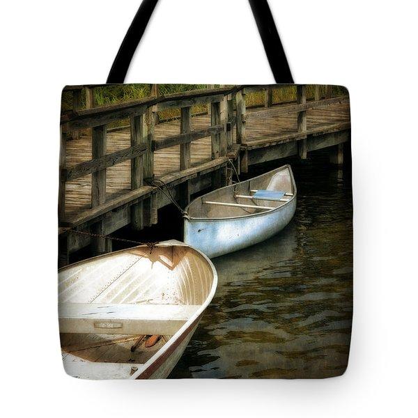 Lost Lake Boardwalk Tote Bag by Michelle Calkins
