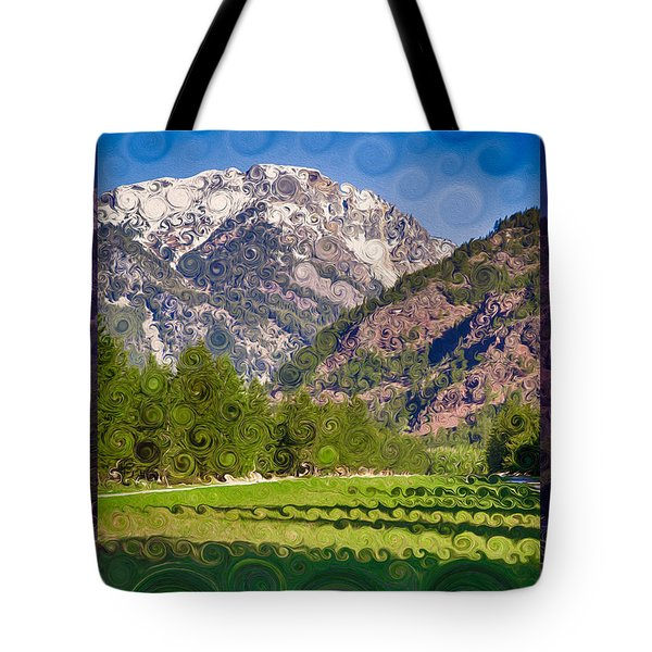 Lost River Airport Runway Abstract Landscape Painting Tote Bag