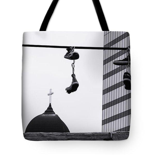 Lost Soles - Urban Metaphors Tote Bag by Steven Milner