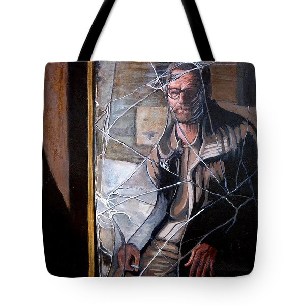 Tote Bag featuring the painting Lost by Tom Roderick