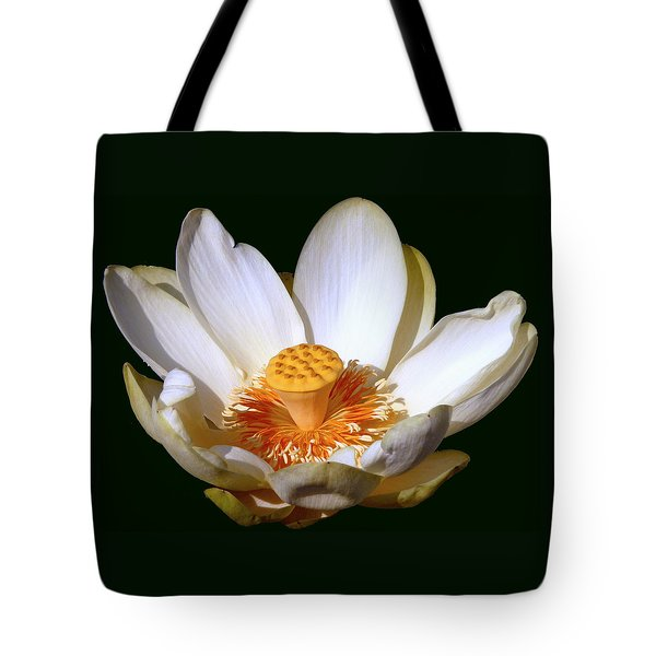 Tote Bag featuring the photograph Lotus Blossom #2 by Jim Whalen