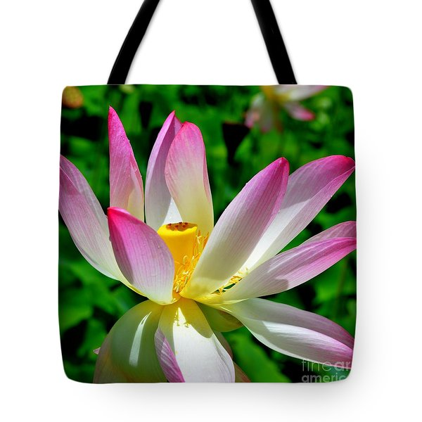 Lotus Blossom Tote Bag by Mary Deal
