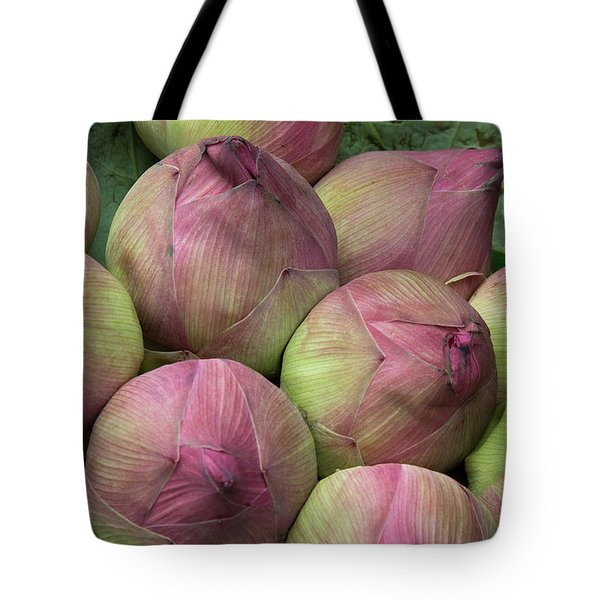 Lotus Buds Tote Bag