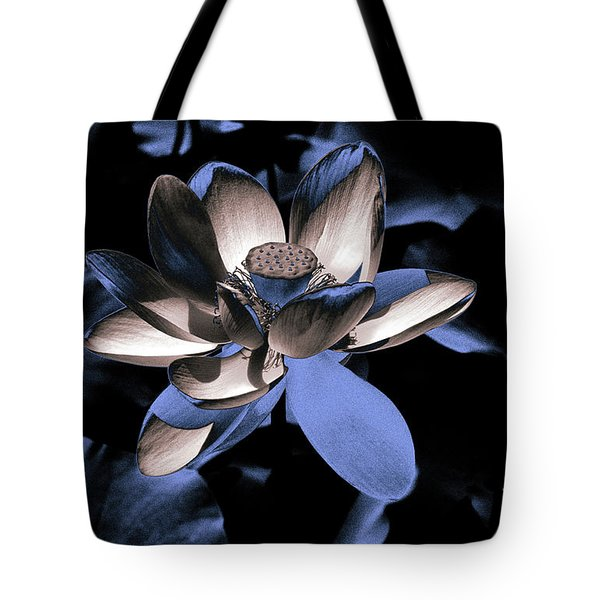 Lotus By Night Tote Bag