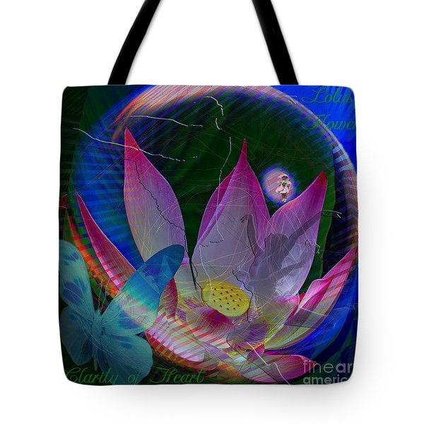 Lotus Flower Energy Tote Bag