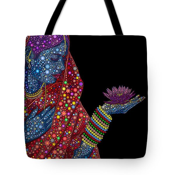Lotus Girl Tote Bag by Tim Gainey