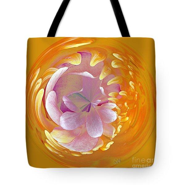 Lotus Go Round Tote Bag