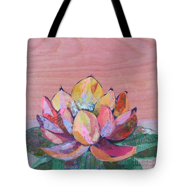 Lotus I Tote Bag by Shadia Derbyshire