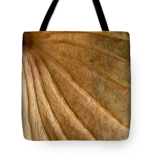 Tote Bag featuring the photograph Lotus Leaf by Jane Ford