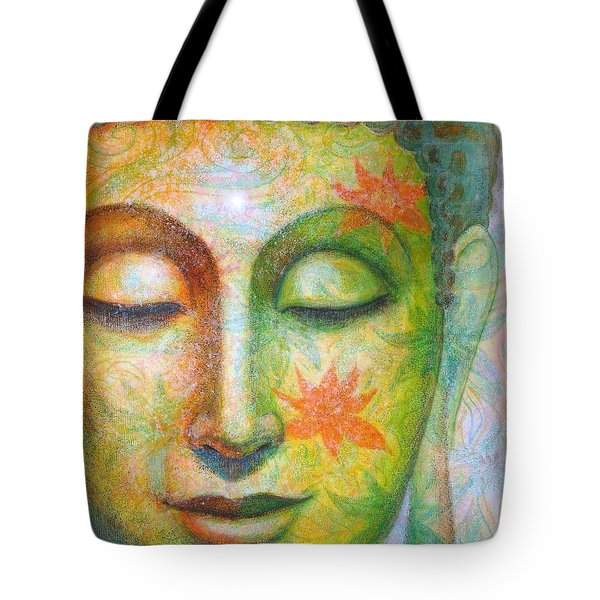Tote Bag featuring the painting Lotus Meditation Buddha by Sue Halstenberg