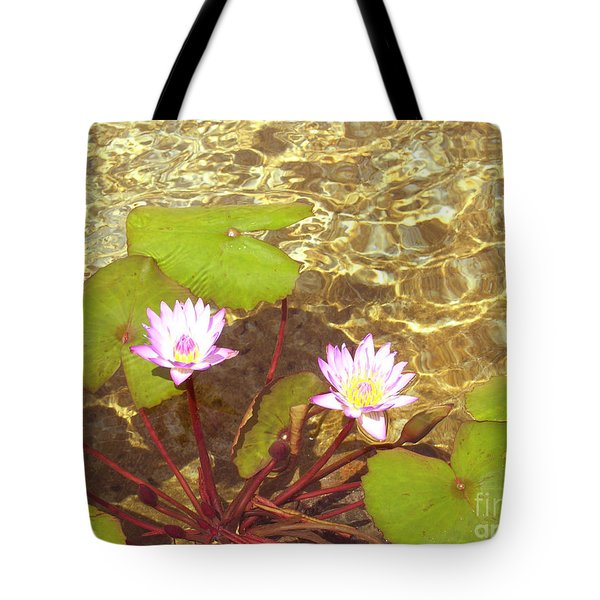 Tote Bag featuring the photograph Lotus by Mini Arora
